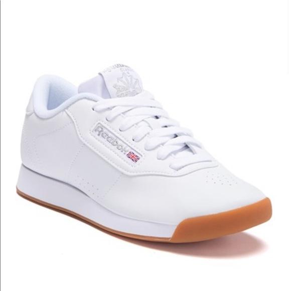 luonteen kengät ensiluokkainen virallinen kauppa Reebok White Princess Sneakers NWT